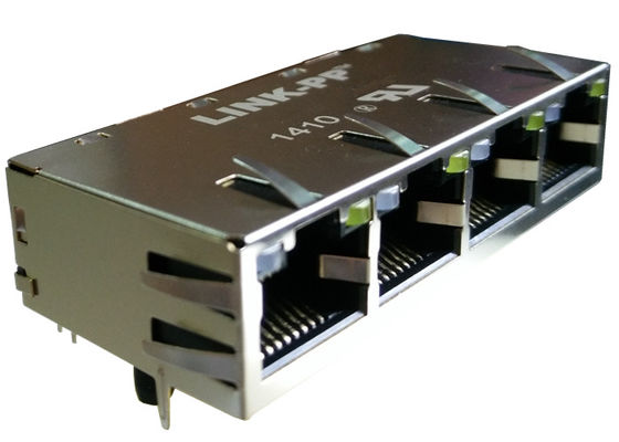 0826-1G4T-32 Multi-port RJ45 1x4 lan Rj-45 10/100/1000Base-T Gigabit Magjack