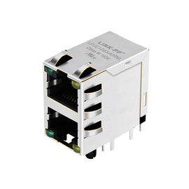 10118075-513B010LF Stacked 2X1 Port RJ45 Connector Modular Jack LPJE106XAHNL