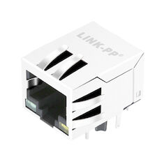LPJ4320GENL POE Connector RJ45 10 / 100Mbps Shielded W/LED Free Samples