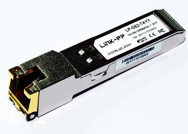 RJ45 مس SFP 10/100/1000 BASE-T SGMII -40 ° C تا + 85 ° C دمای صنعتی 1.25 گیگابیت اترنت